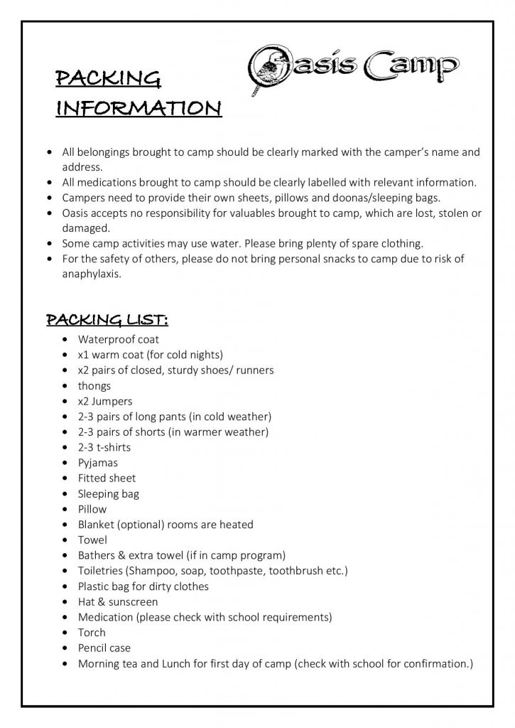 Campers packing list 2018-page-001